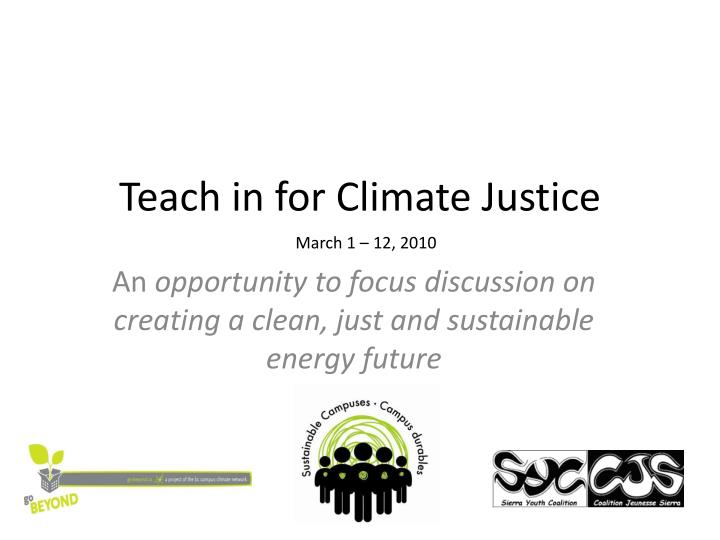Teach in for climate justice