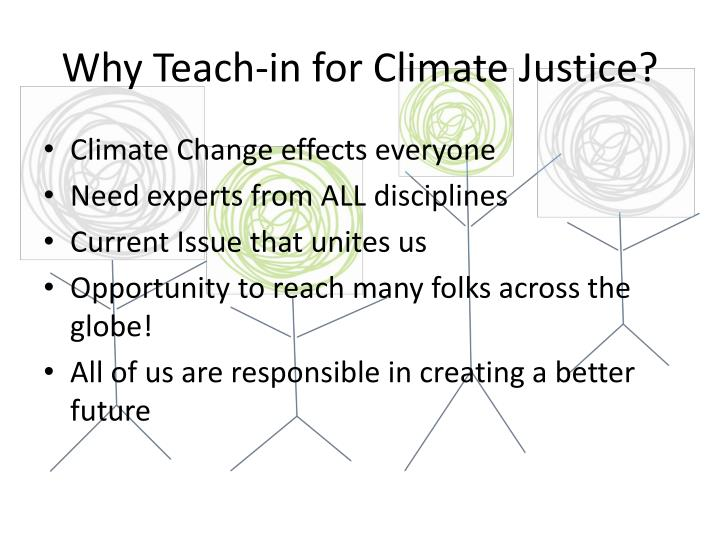 Why Teach-in for Climate Justice?