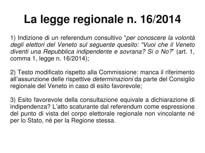 """1) Indizione di un referendum consultivo """""""