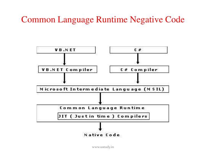 Common Language Runtime Negative Code