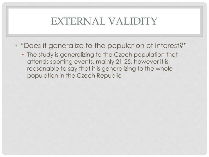 External validity
