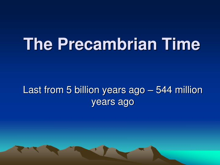 the precambrian time n.