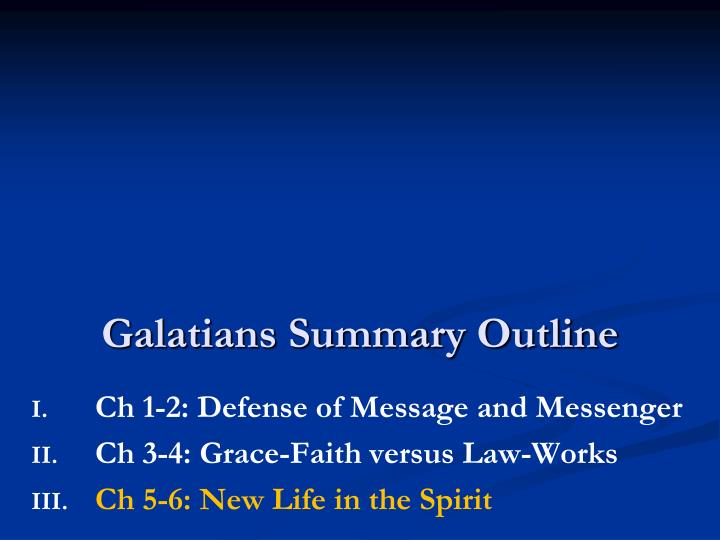 galatians summary outline n.