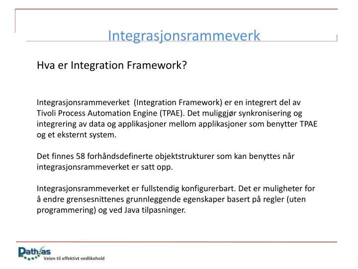 Integrasjonsrammeverk