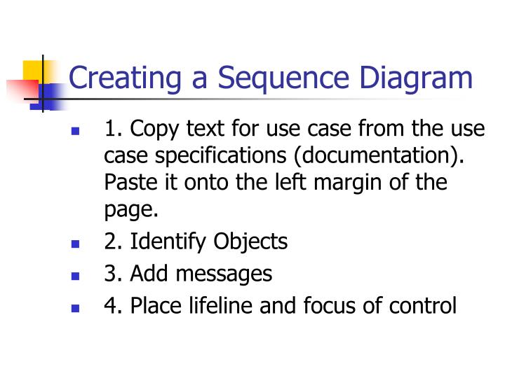 Creating a Sequence Diagram