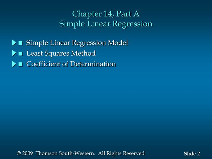 Chapter 14 part a simple linear regression