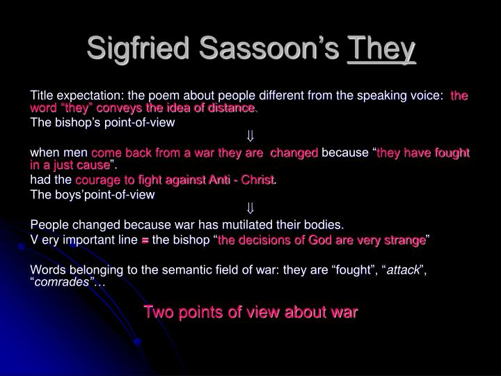 Sigfried Sassoon's