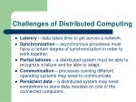challenges of distributed computing