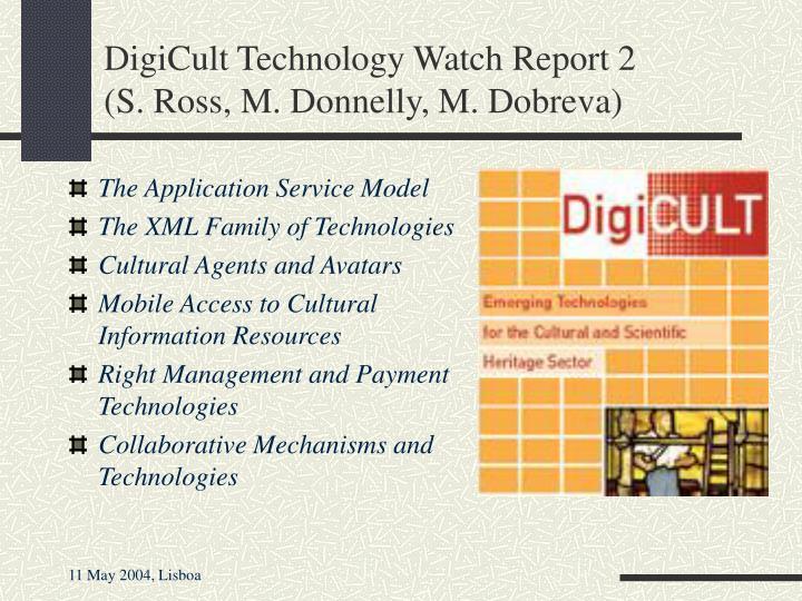 DigiCult Technology Watch Report 2