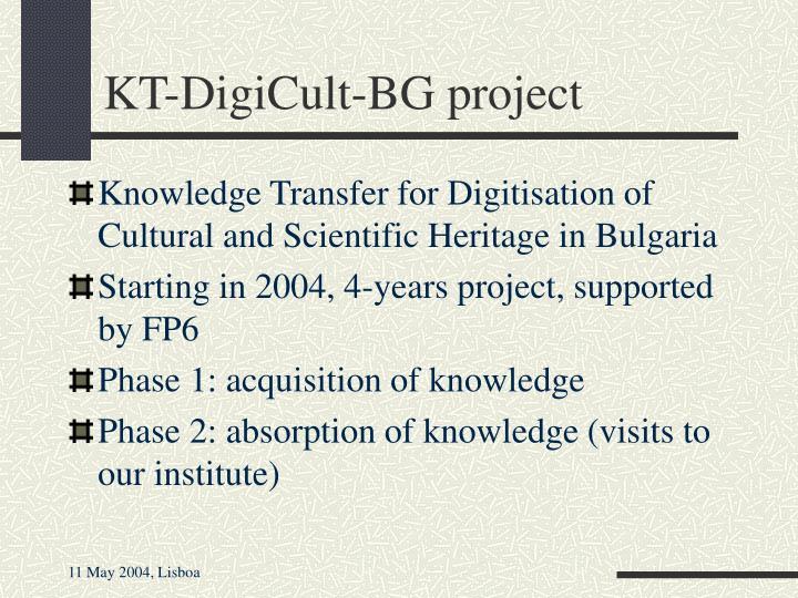 KT-DigiCult-BG project