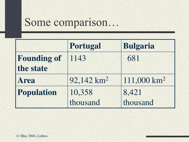 Some comparison…