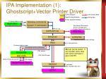 ipa implementation 1 ghostscript vector printer driver