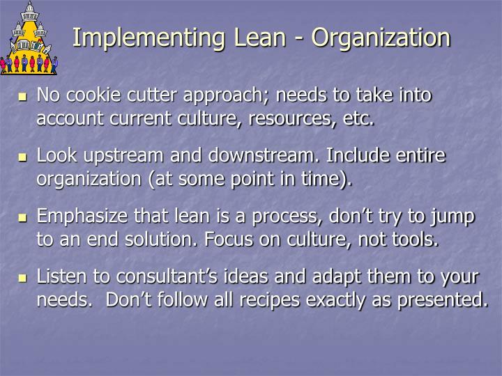 Implementing Lean - Organization