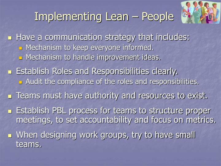 Implementing Lean – People