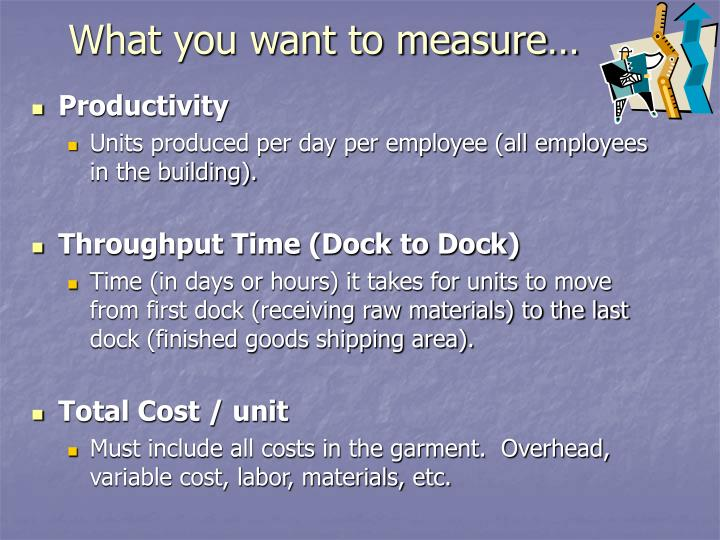 What you want to measure…