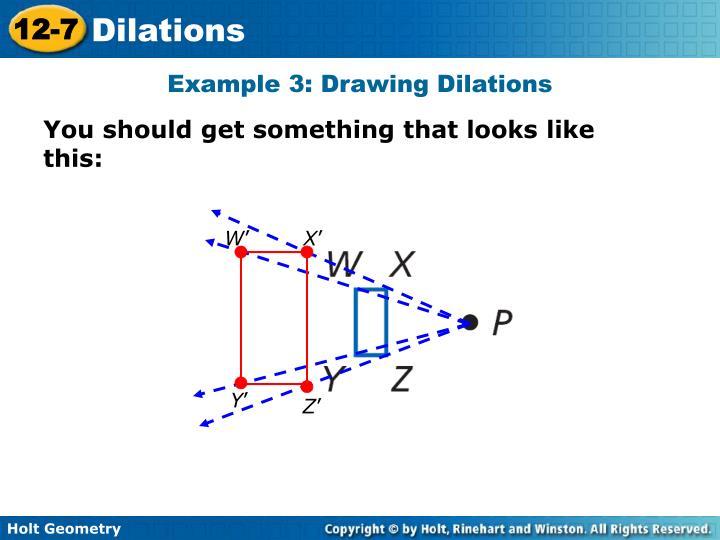 problem solving 12-7 dilations