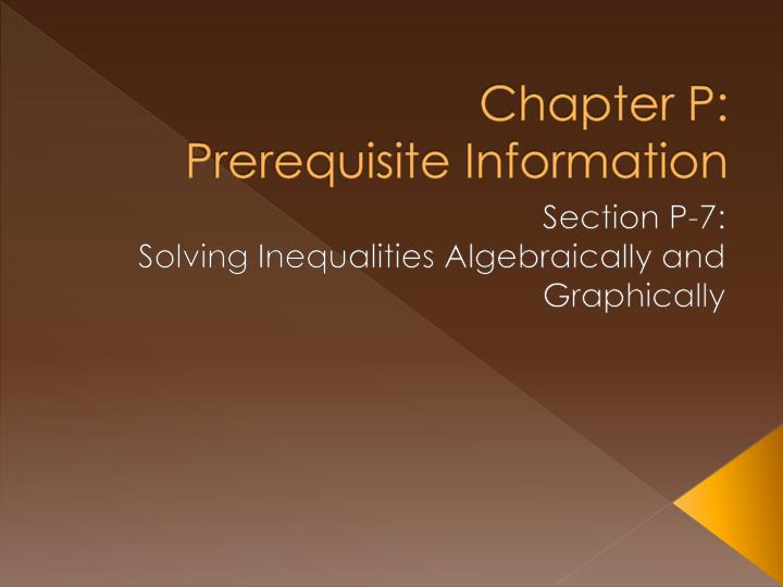 chapter p prerequisite information n.