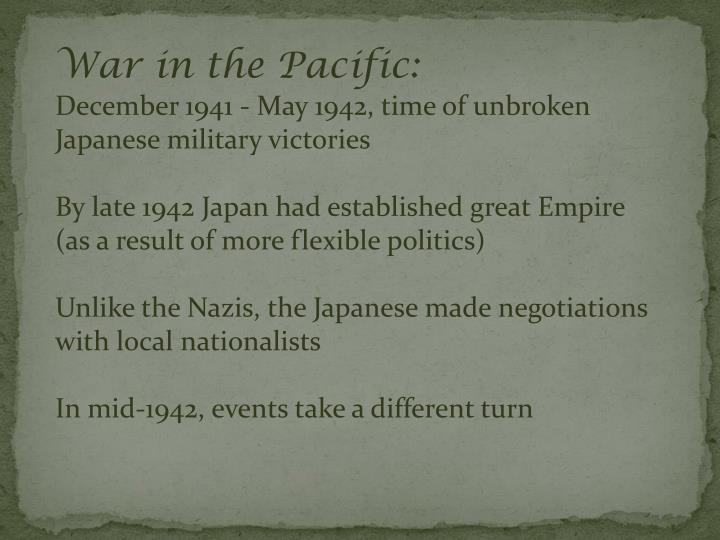 War in the Pacific: