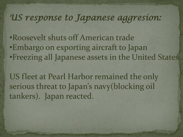 US response to Japanese