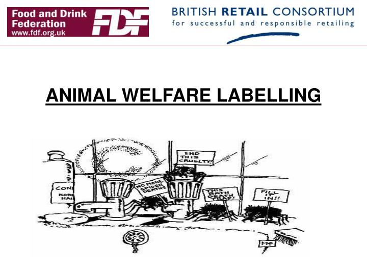 Animal welfare labelling