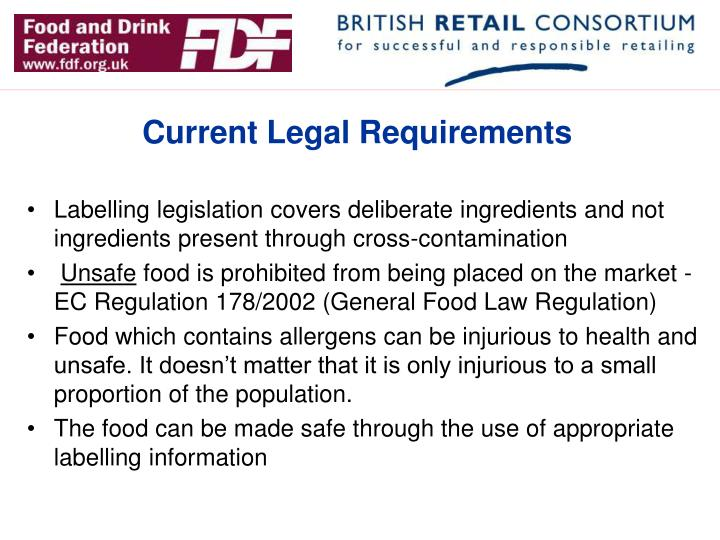Current Legal Requirements