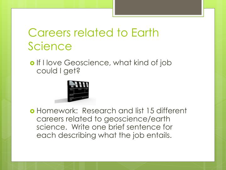 Careers related to Earth Science