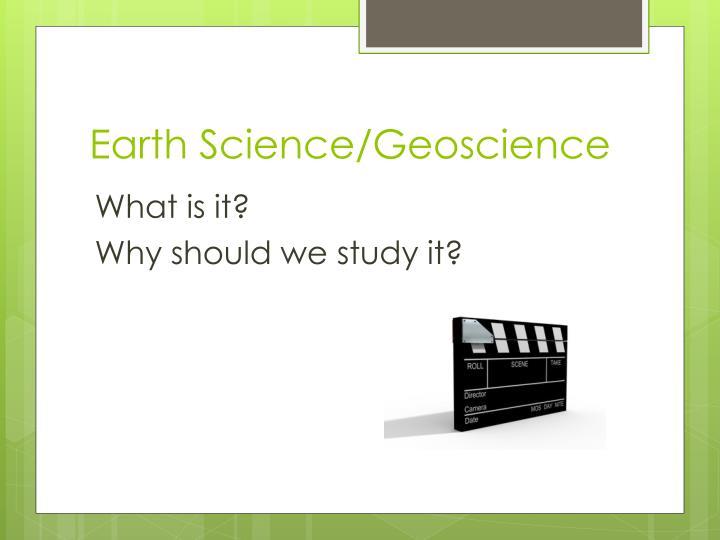 Earth science geoscience