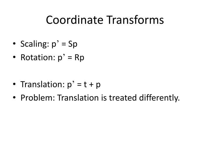 Coordinate Transforms