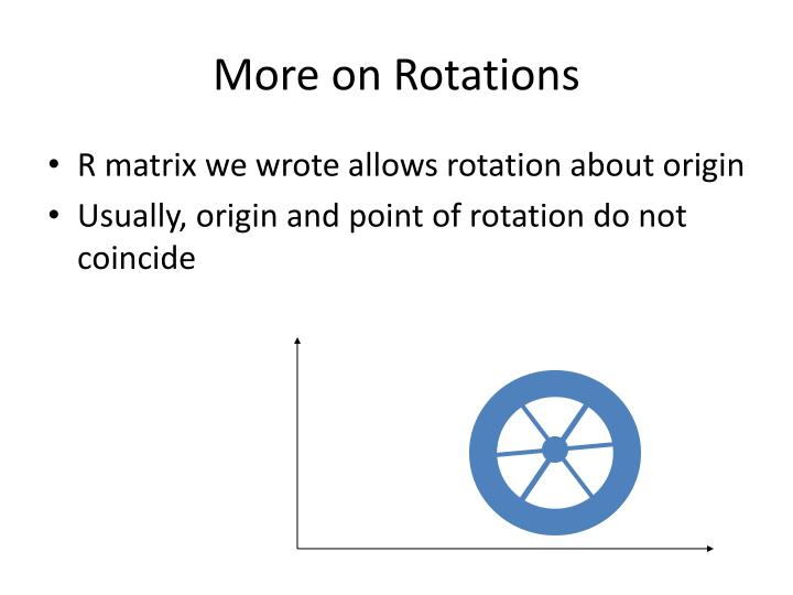 More on Rotations