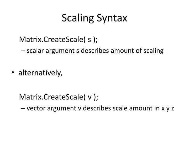 Scaling Syntax