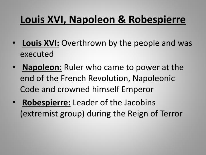 napoleon terrorism and people
