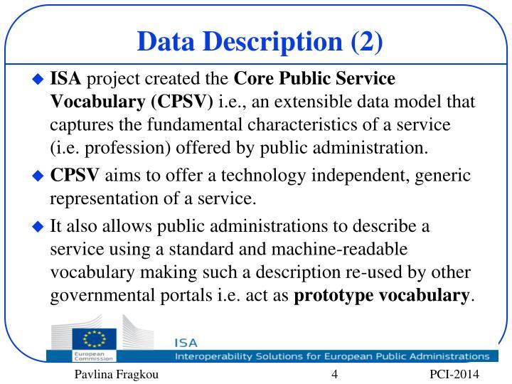 Data Description (2)