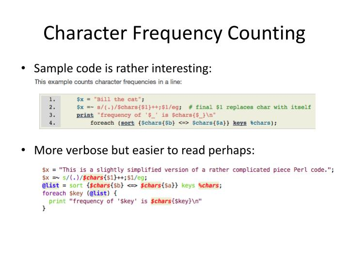 Character Frequency Counting