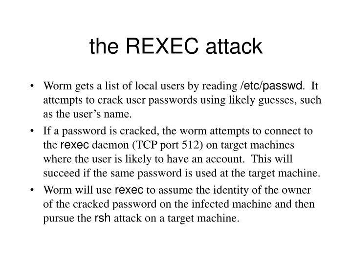 the REXEC attack
