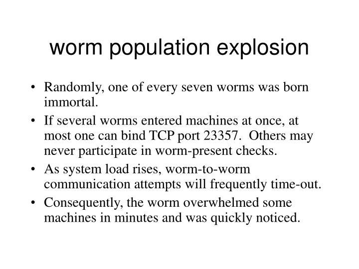worm population explosion