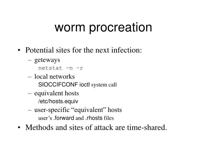 worm procreation