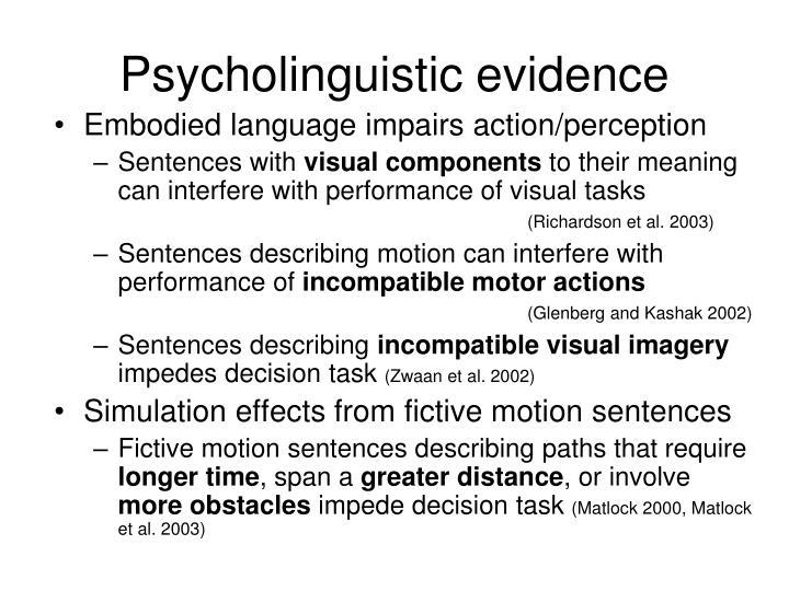 Psycholinguistic evidence
