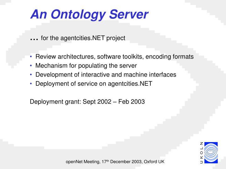 An ontology server