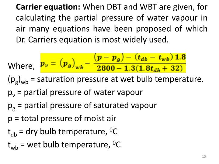 Carrier equation: