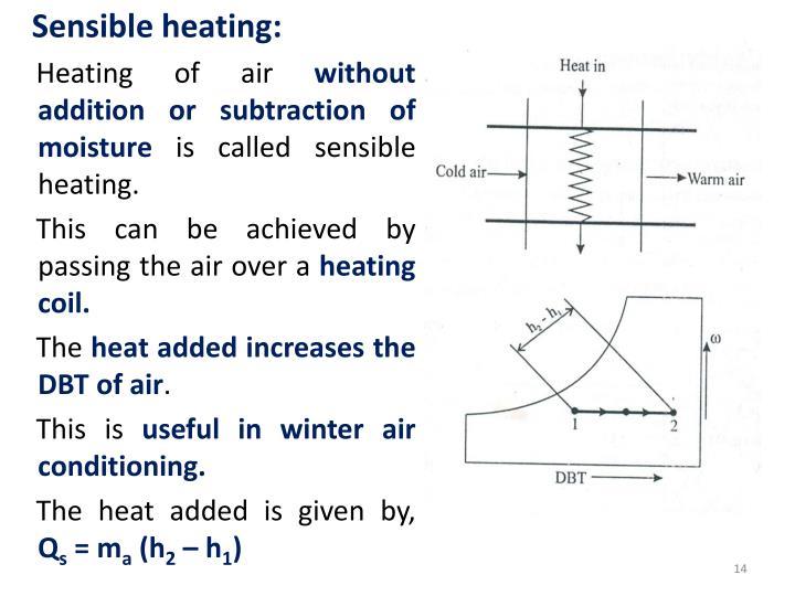 Sensible heating: