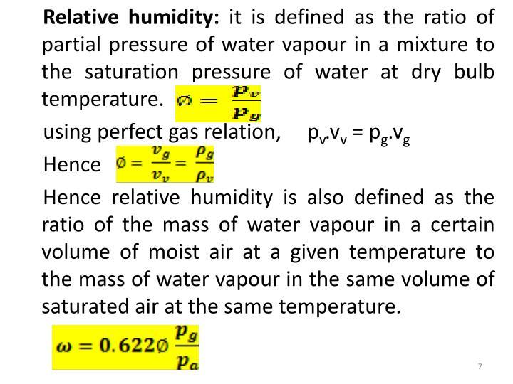 Relative humidity: