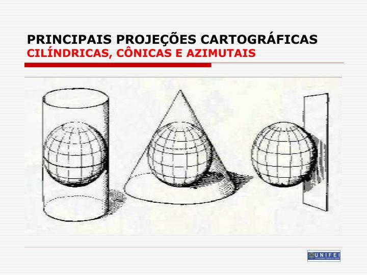 PRINCIPAIS PROJEÇÕES CARTOGRÁFICAS