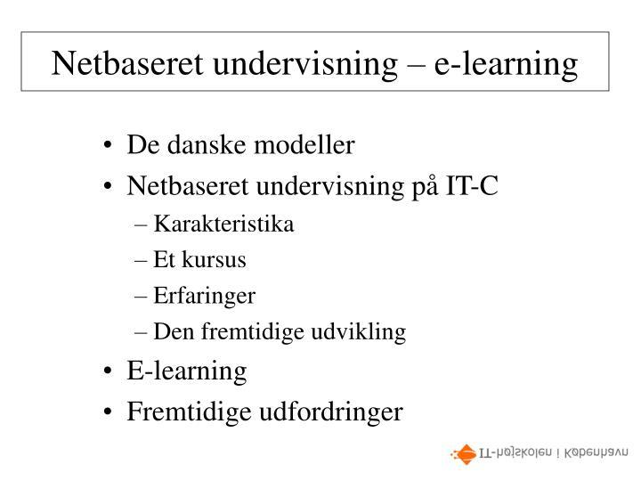 Netbaseret undervisning e learning