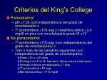 criterios del king s college