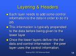 layering headers