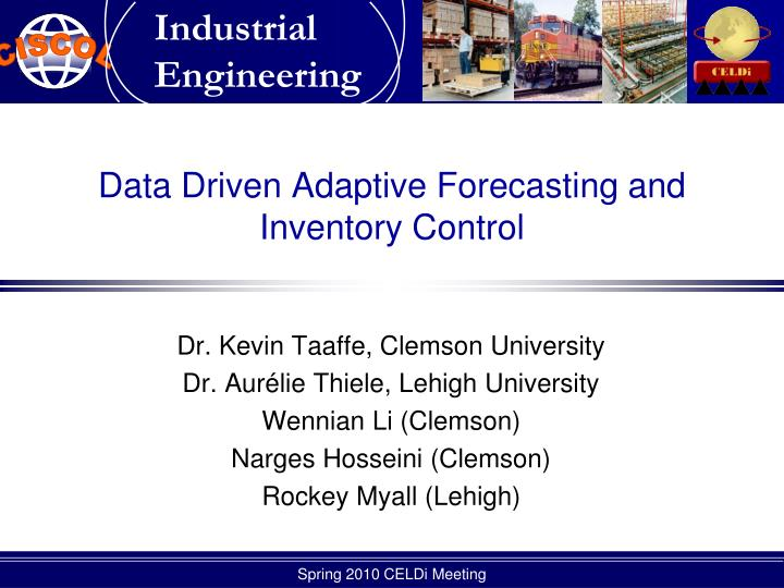 data driven adaptive forecasting and inventory control