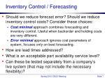 inventory control forecasting