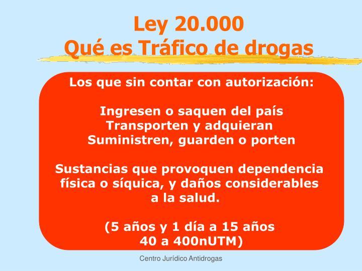 Ley 20.000