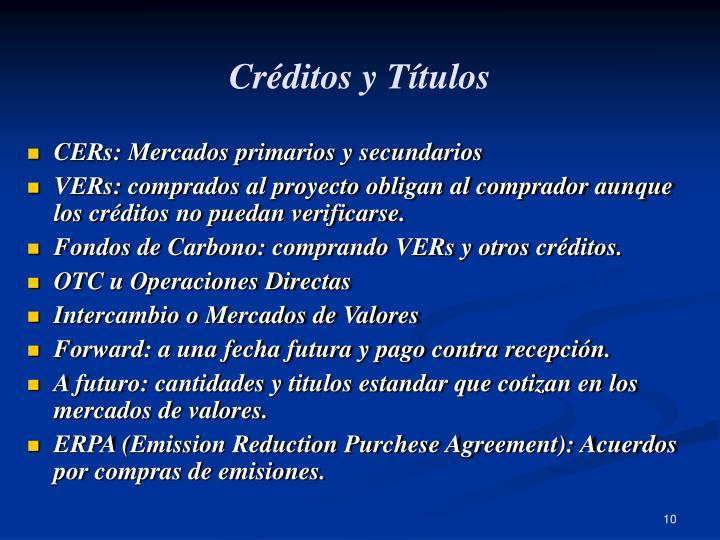 Créditos y Títulos