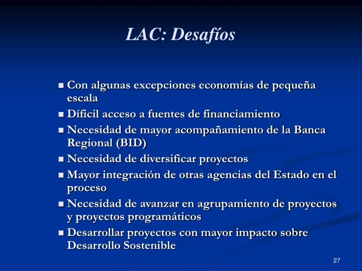 LAC: Desafíos